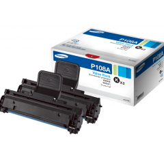 Samsung Mono Toner Cartridge - MLT-P108A (Twin Pack)